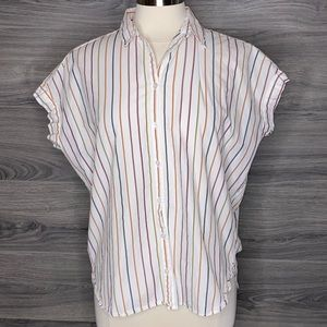 Madewell Central Shirt in Sadie Stripe size Small